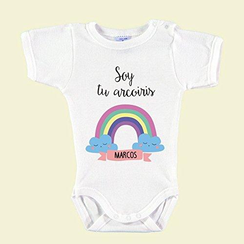 """Body Bebé Personalizado con Nombre 100% Algodón Orgánico""""Soy tu Arc"""