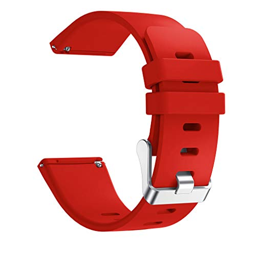 SEWORLD Armband Kompatibel für Fitbit Versa Lite, Silikon Ersatz Uhrenarmbänder Straps Sport Armband Ersatzband Weichem Silikonband Handschlaufe Uhrenarmband Zubehör(Rot)