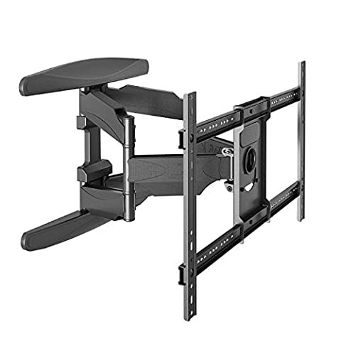 StandMounts Double Arm TV Wall Bracket Mount for 40''– 70 inch LED LCD OLED Plasma HD TV Flat Screen TVs up to 100 lbs P6 Black