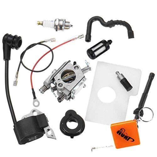 Preisvergleich Produktbild HURI Zündspule Vergaser Luftfilter Satz für Stihl 017 018 MS170 MS180 Motorsäge