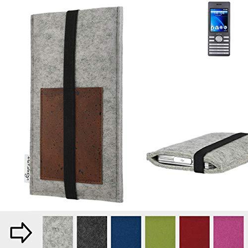 flat.design Handy Hülle Sintra für Kazam Life B6 handgefertigte Handytasche Filz Tasche Schutz Case Kartenfach Kork