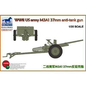Unbekannt Bronco Models cb35147-Maqueta de WWII US Army m3a137mm Anti de Reservorio Gun