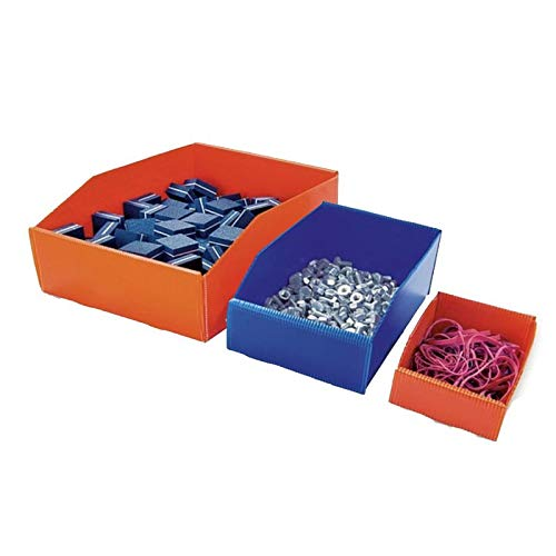 Pack de 100 Bacs à Bec plastique alvéolaire 380x180x105 mm Bleu Mat - TIGGRE.FR