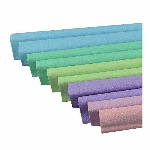 Feinkrepp 50x200 cm 10 Rollen Sortiert pastell