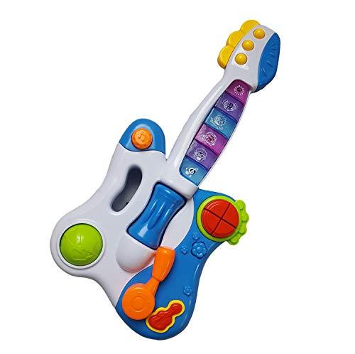 linolino E Gitarre für Babys und Kleinkinder, Spielzeug Gitarre, Kindergitarre