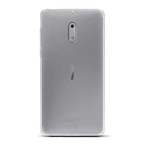Amazon Brand - Solimo Nokia 6 Mobile Cover (Soft & Flexible Back case), Transparent