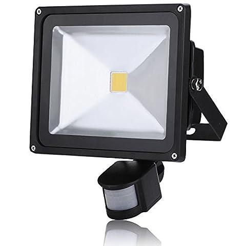 1X 30W Warm White PIR Motion Outdoor Sensor Security LED Floodlight Security Spot Lights IP65 LED PIR Motion Sensor Induction