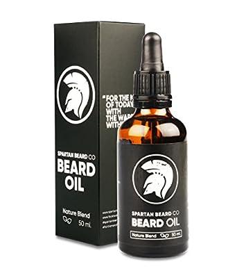 Spartan Beard Co. – Beard Oil – Nature Blend - Make Your Beard Stronger, Healthier and More Kissable Than Ever Before – 100% Money Back Guarantee from Spartan beard Co