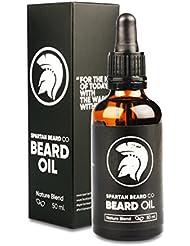 Spartan Beard Co. – Huile pour barbe – Pour que votre barbe soit plus forte, plus belle et plus séduisante que jamais – Garantie satisfait ou remboursé à 100%