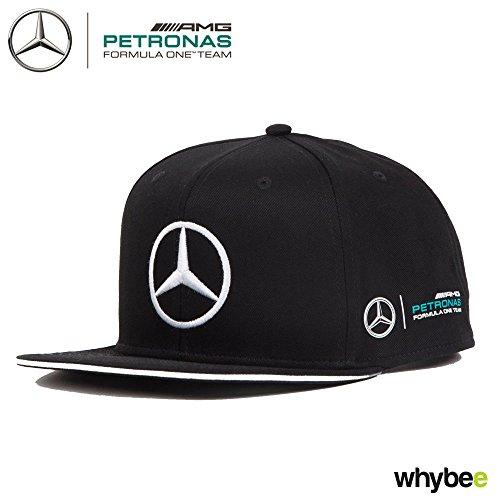 ad8bc8d5950 2017 Lewis Hamilton Flatbrim Cap BLACK Hugo Boss Mercedes-AMG F1 Formula 1  Team