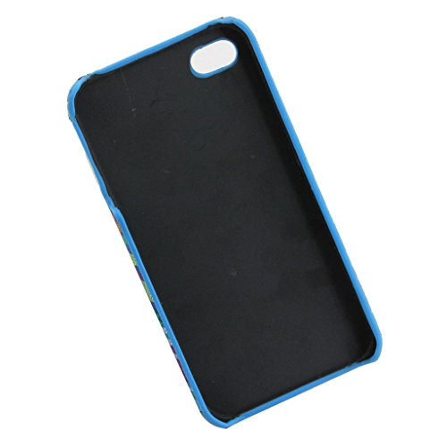 iPhone 4S Hülle, iPhone 4 Hülle, Lifeturt [ Blau ] Gemalt Mode-Design PC Hardcase Handycover Schutzhülle Etui Telefon-Kasten Hülle Case für Apple iPhone 4 4S E02-Blau146703