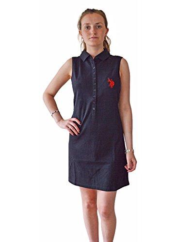us-polo-association-vestito-donna-black-m-44-46