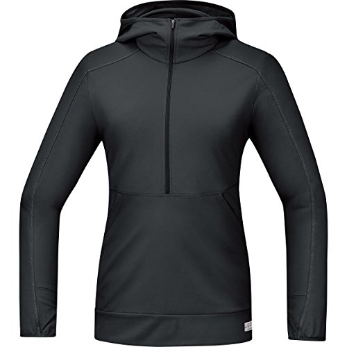 GORE RUNNING WEAR Damen Warmes Langarm Kapuzen-Laufshirt, GORE Selected Fabrics, AIR LADY Hooded Shirt long, Größe 38, Schwarz, SHLAIR (Womens Cycle Jacken)