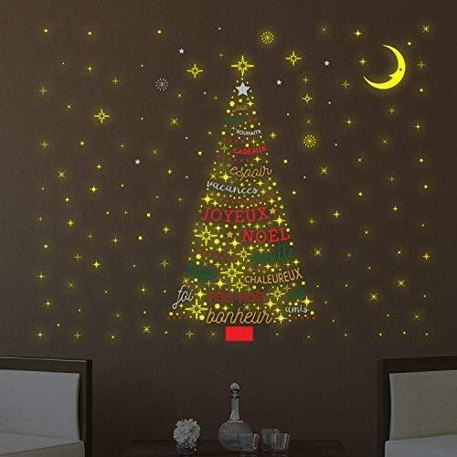 Wallflexi Navidad decoración Pegatinas Pared árbol