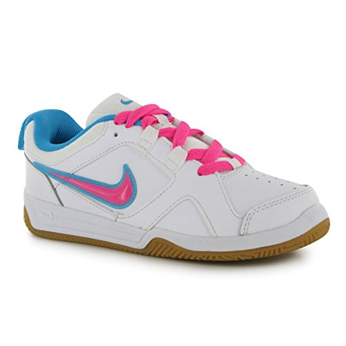 Nike Lykin 11 Kids Kinder Mädchen Sneaker, Leder oben Sport Schuh, Schuhe Weiß/Rosa