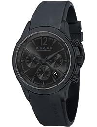 Cross CR8011-05 - Reloj cronógrafo para hombre, correa de silicona color negro