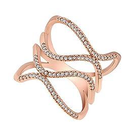 Anelli da Donna Banda di Cerimonia Nuziale dell'anello dei monili di Rame dell'anello di Cristallo delle Donne Creative…