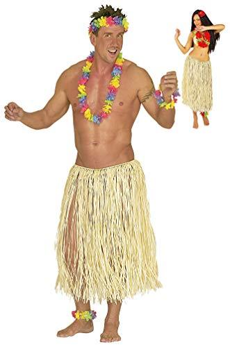 Karneval-Klamotten Hawaii Kostüm Hawaii-Rock Damen Herren Bast Natur 78 cm. Einheitsgröße