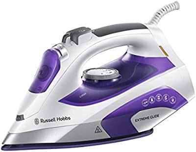 Russell Hobbs 21530-56 Dry & Steam iron Tourmaline ceramic soleplate 2400W Gris, Violeta, Color blanco - Plancha (Dry & Steam iron, Tourmaline ceramic soleplate, 2,5 m, 150 g/min, Gris, Violeta, Color blanco, 45 g/min)