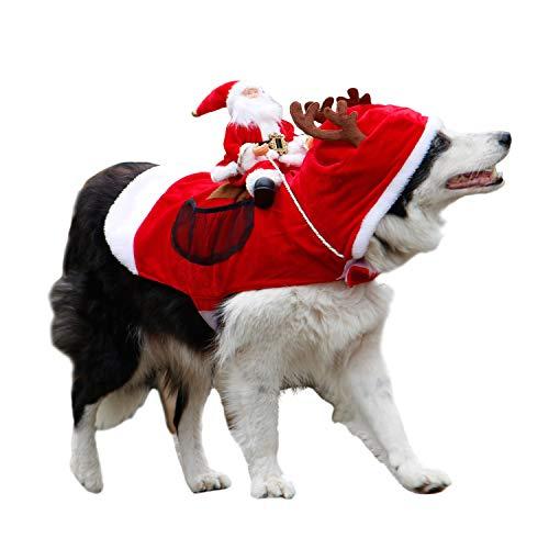 Royal Wise Weihnachtsmannkostüm für Hunde, Katzen, Kostüm, S, rot