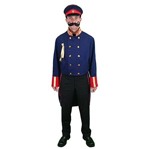Krause & Sohn Uniform Frack Preußen blau Gr. XL, Historisches Kostüm Preussen ()
