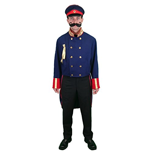 Uniform Frack Preußen blau Gr. L, Historisches Kostüm Preussen Militär