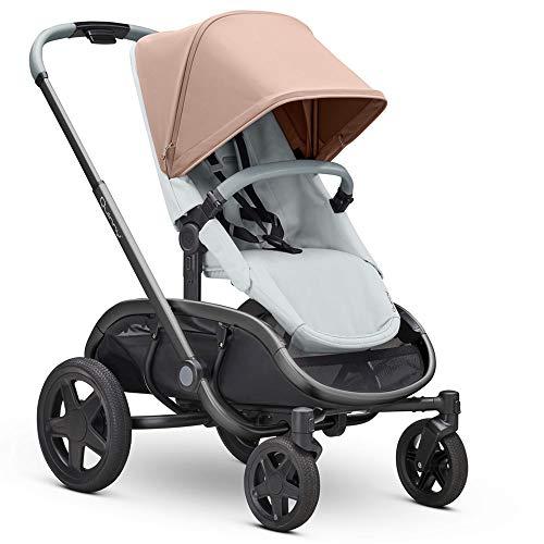 Quinny Hubb Mono XXL Shopping-Kinderwagen, großer Einkaufskorb, einfach klappbarer Kinderwagen, 6 Monate bis 3,5 Jahre, Cork On grey/rosa
