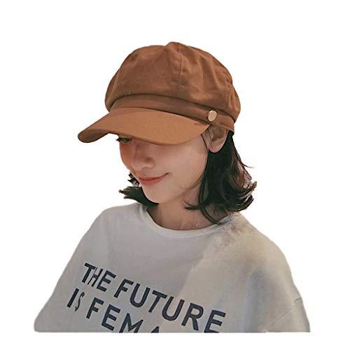 Atmungsaktiver achteckiger Hut-weiblicher Frühling Retro beiläufiger Sommer-Wilder literarischer Ente-Zungen-Tuch-Hut einfacher Zeitung-Jungen-Hut ()