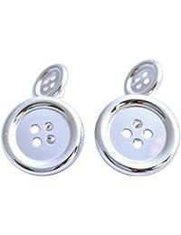 Sterling Silver Button Style Cufflinks