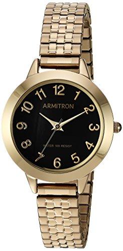 Armitron Women's Quartz Metal and Stainless Steel Dress Watch, Color:Gold-Toned (Model: 75/5562BKGP) image