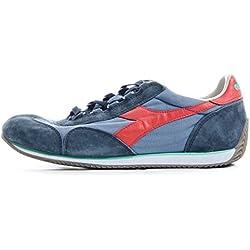 Scarpe Uomo DIADORA HERITAGE 201 156988 EQUIPE SW 12 Canvas Sneakers running Primavera Estate 2017 Blu rosso 41