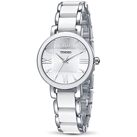 Time100 Orologio da donna in acciaio inox movimento al quarzo giapponese, display analogico#W50190L.01A