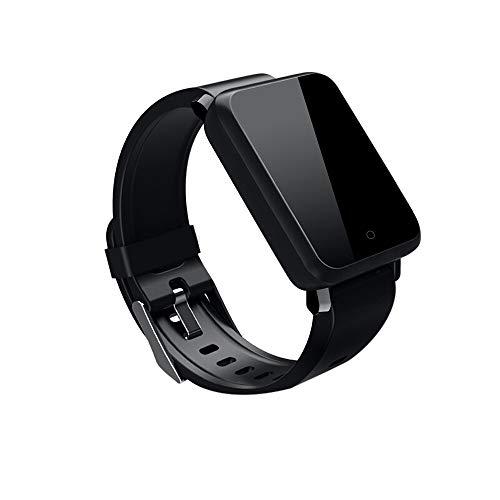 Reloj Inteligente Smart Watch Rastreador de Ritmo cardíaco Presión Arterial Reloj IP67 (Negro)