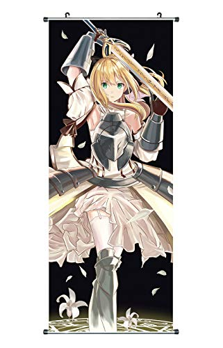 CoolChange großes Fate Stay Night Unlimited Codes Rollbild/Kakemono aus Stoff, 100x40cm, Motiv: Saber Lily