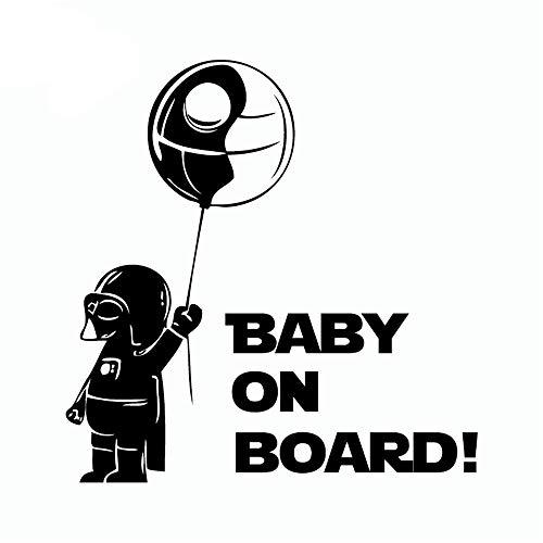 Star Wars Wandaufkleber Darth Vader Baby an Bord Skywalker Deathstar Vinyl Wandtattoo für Wohnkultur (Star Baby-raum Wars)
