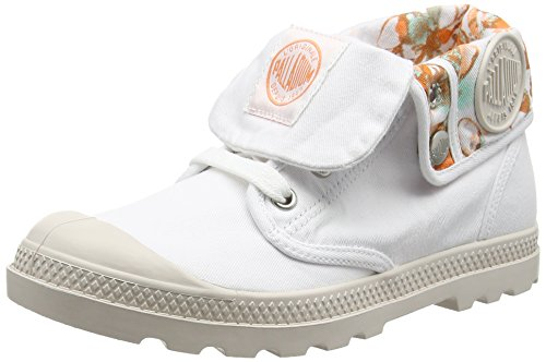 Palladium Baggy Lp Tw P F, Baskets Hautes Femme Blanc (D18 White/Cement Gray)