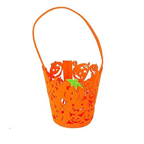 (VEMOW Heißer Nette Süße Baby Mädchen Jungen Kürbis Lagerung Halloween Party Zubehör Tasche Einzigen Handtaschen Taschen(Tasche, B))