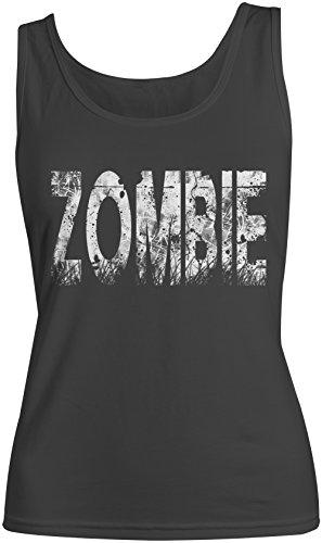 Zombie Distorted Text Artwork Femme Tank Top Debardeur Noir