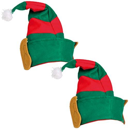2 x Elfenmütze Hut für Elfen für Kostüm Elfe Waldgeist Elfenhut