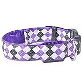 Wekold LED beleuchtet Hundehalsband Mode Plaid Nylonband Haustiere Liefert Haustier Halsbänder