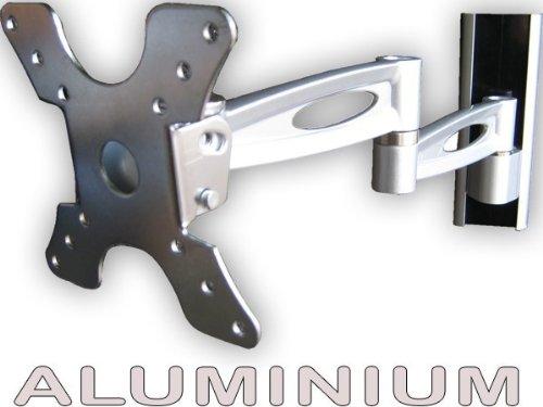 Fernseh Halter Wandhalterung TV Schwenkarm VESA 50-100 für LED/LCD/Plasma 17 18 19 20 22 Zoll (Silber) Modell: L50