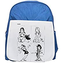 Andrew Loomis fun with a pencil. printed kid's blue backpack, Cute backpacks, cute small backpacks, cute black backpack, cool black backpack, fashion backpacks, large fashion backpacks, black fashion