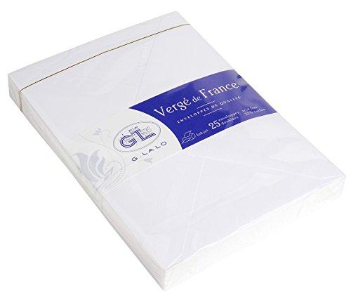 G. Lalo 47200l–Papel Vergé de France (100g, DIN A4, 21x 29,7cm, 50hojas), color blanco, color extra weiß 22,9 x 16,2 cm gefüttert