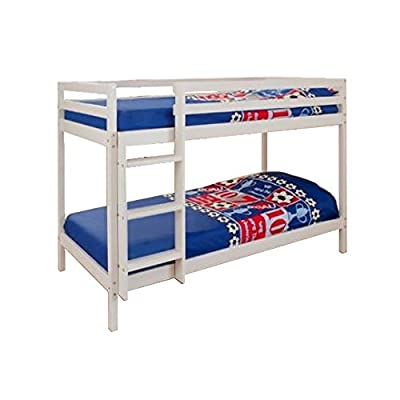 Comfy Living 2ft6 Small Single Wooden White Bunk Bed Zara