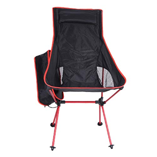 Xiang Ru Pliante Tabourets Fauteuil Portable Chaise Léger Pique-Nique Camping Rouge