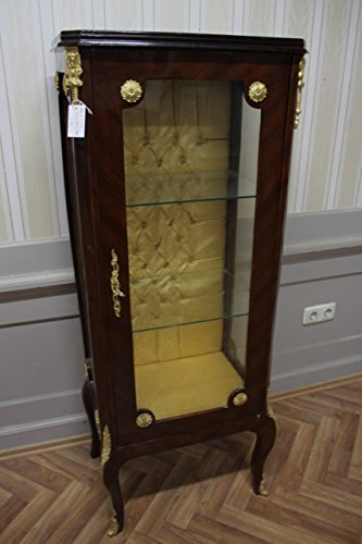 LouisXV Barock Vitrine Rokoko Antik Stil Schrank Louis XV AaVi0210 Antik Stil Massivholz....