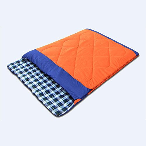 MIAO Paar Schlafsäcke, Outdoor 2 Personen Camping 2700g , orange (Paar Onesies Für Erwachsene)