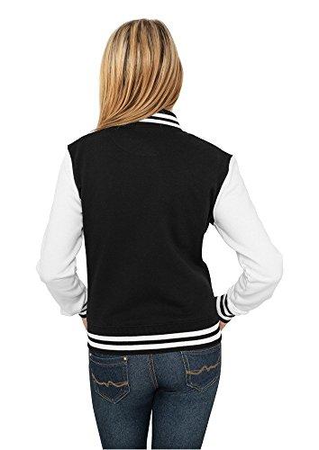 Urban Classics TB218 Damen Jacke Ladies 2-tone College Sweatjacket Mehrfarbig(blk/wht)