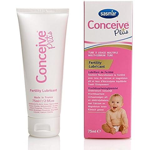 Conceive Plus Lubricante de Embarazo Fertilidad - Gel Lubricante Intimo - En los Dias Fertiles de la Mujer Aumenta la Posibilidad de Embarazo - Lubricante para Concebir - 75 ml