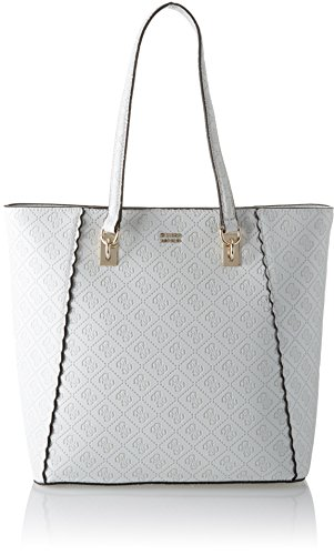 Guess Damen Bags Hobo Schultertasche, Weiß (White), 14.5x31x30.5 centimeters